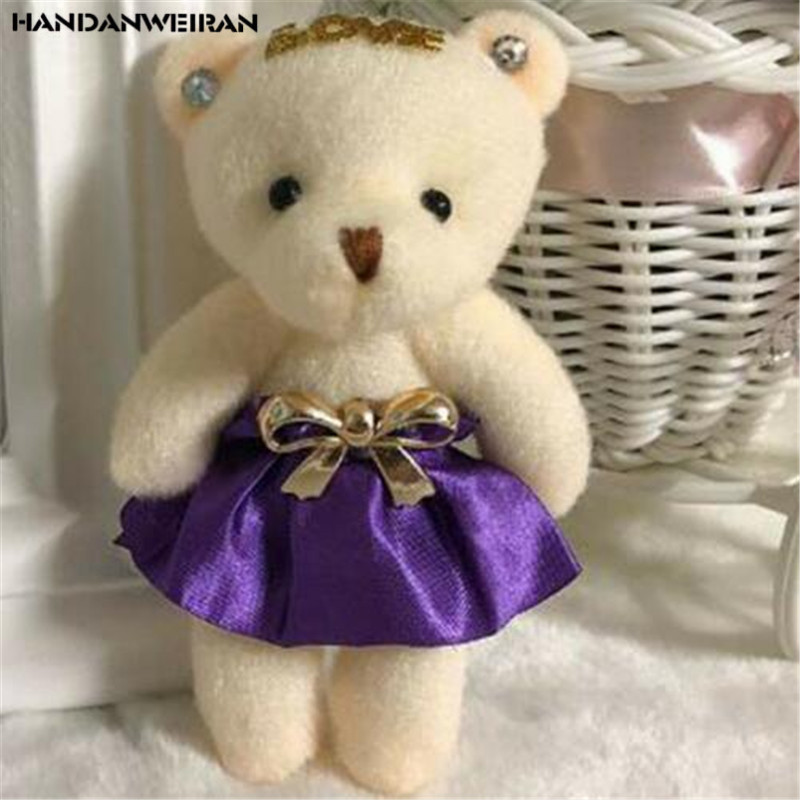 1PCS Plush Bouquet LOVE Bear High Quality Toys Dolls Pendant Unisex Cute Fluffy Bears Doll Toy Kid Valentine Gift Wholesale 11CM
