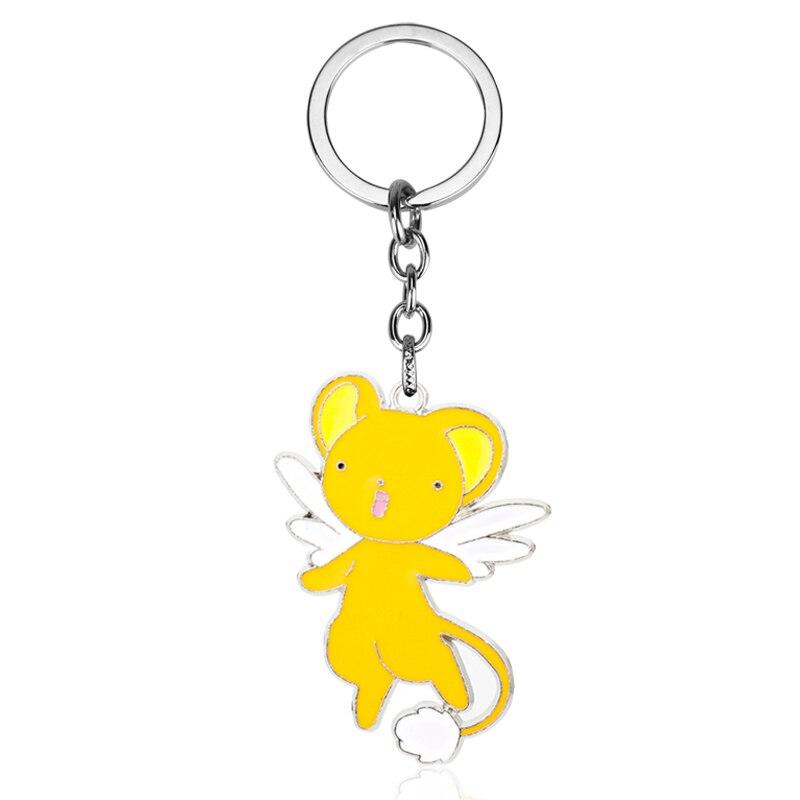 MQCHUN Fashion Design Cardcaptor Sakura Card Captor Sakura Figures Kero SUPINERUSAN Figure Keychain Pendant Toys Keyholder-5
