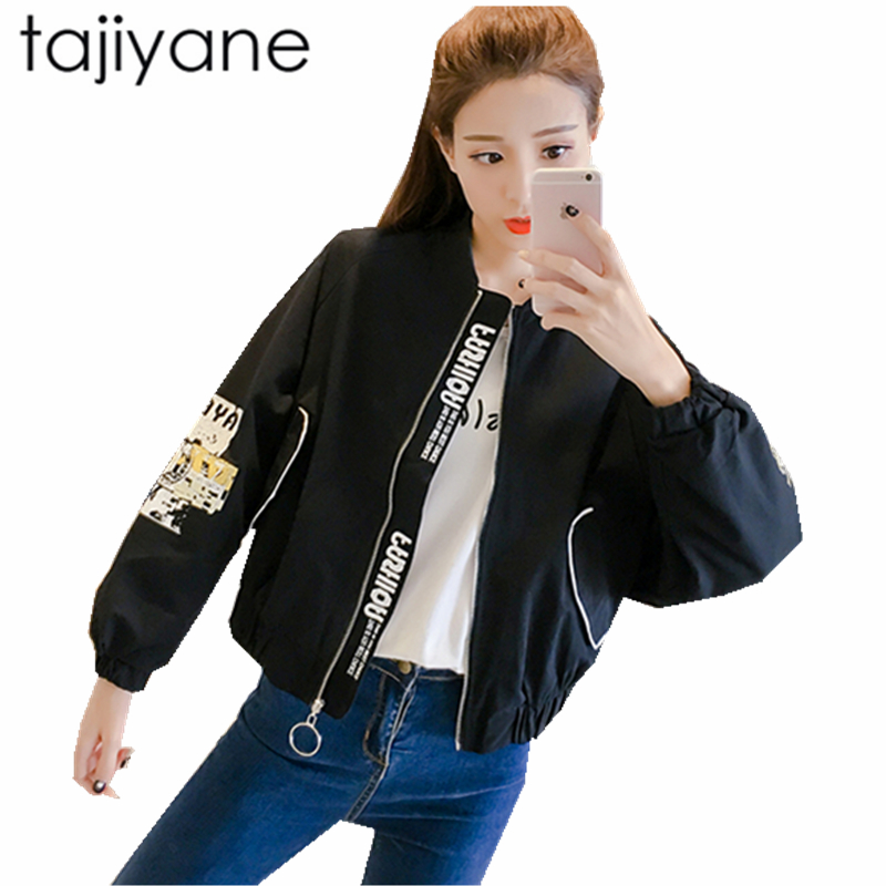 TAJIYANE Fashion   Basic     Jacket   Coat Outerwear & Coats Casual Motorcycle   Jacket   Female Coat 2018 Autumn Spring   Jacket   Women LD200