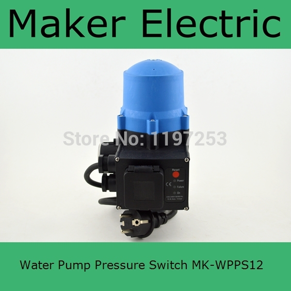 Automatic electronic water pump pressure switch adjustable pressure control MK-WPPS12 with the plug socket wires ac110 240v intelligent control switch electronic temperature automatic controller sensor for farming industry us plug