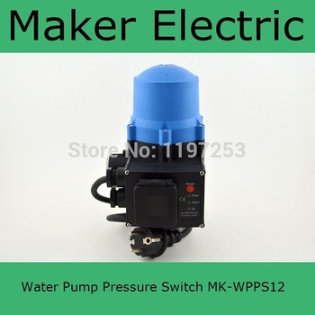 Automatic electronic water pump pressure switch adjustable pressure control MK-WPPS12 with the plug socket wires