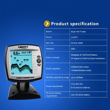Lucky Brand Fish Finder 2 in 1 Wired 100M and 45M Wireless Boat Fish Finder Fishing Sensor Sonar Carp Fishing FF918-100W