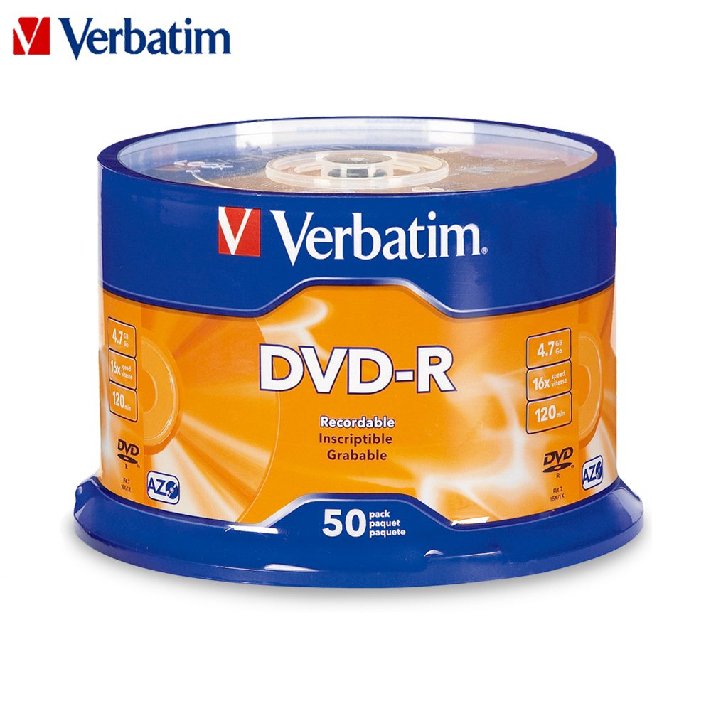 Verbatim Blank CD Disks Recordable Dvd-Discs Data-Storage Bluray Compact Empty 16x4.7gb