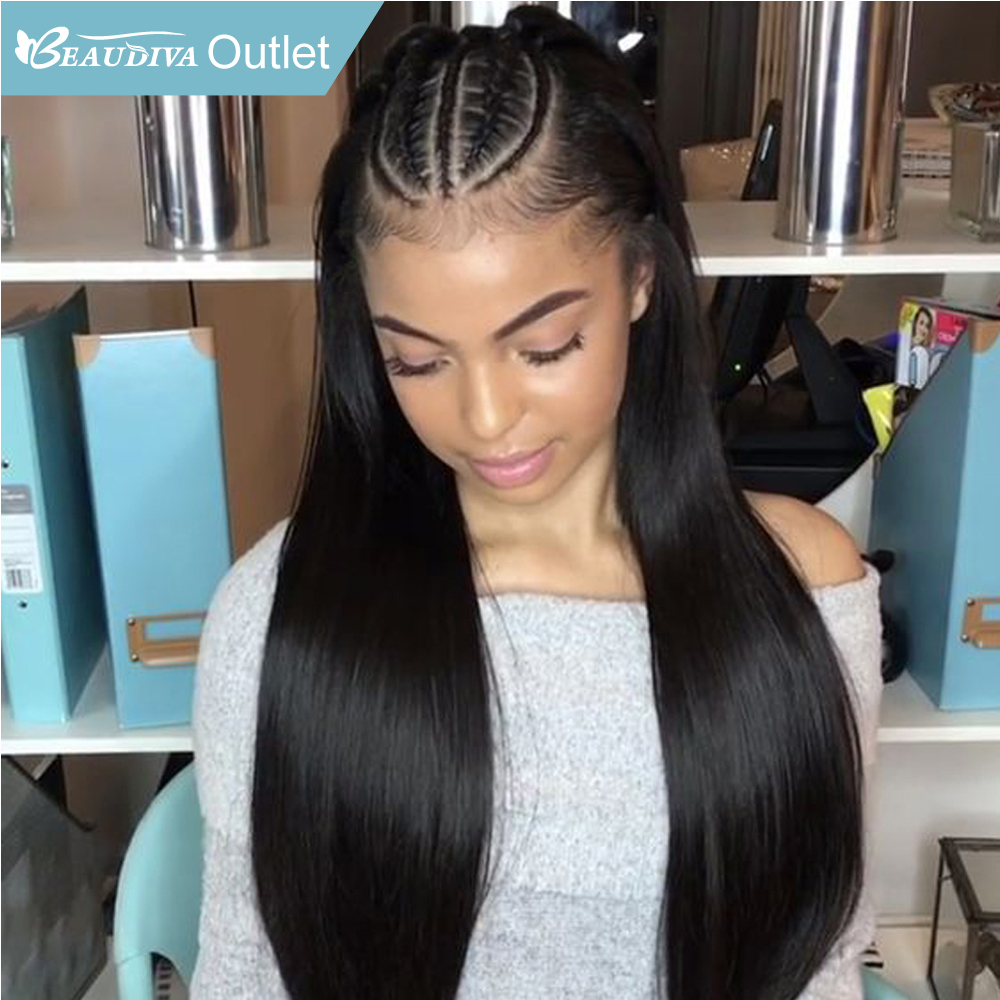 Beaudiva Remy Hair Lace Front Human Hair Wigs Straight Hair Lace Front Wig Pre Plucked Hairline Bleached Knots With Baby Hair