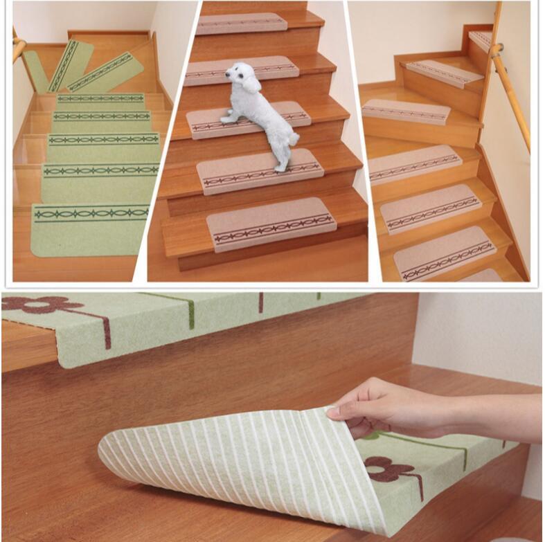 5pcs Cartoon Carpet Stair Mats Self Adhesive Stairs Carpet