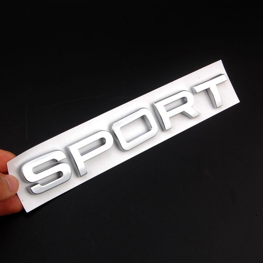 3D Car Rear Chrome Silver SPORT Badge Emblem Sticker Decal for GS RS 250 Car Styling Auto Accessories Car Stickers Covers
