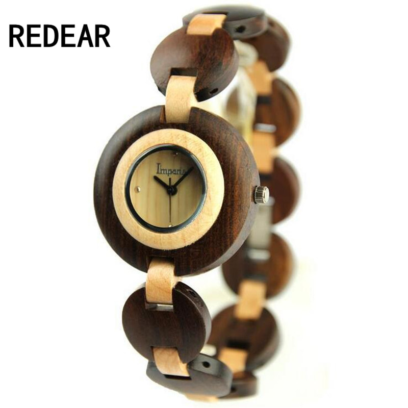 REDEAR915 bamboo and wood material luxury font b watches b font women s high end brand