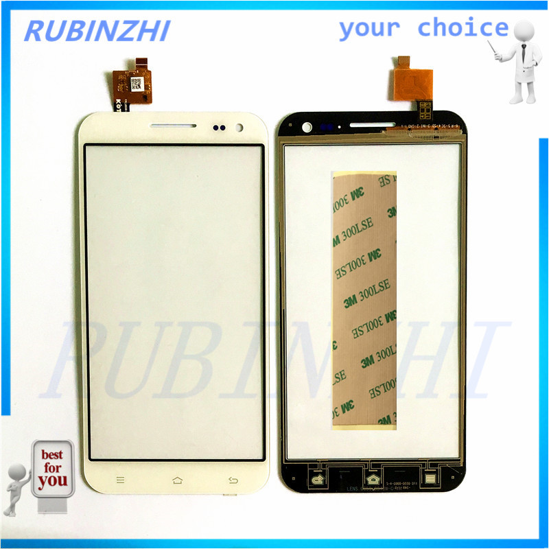 RUBINZHI Phone Touch Screen For Zopo ZP999 ZP998 Touch Panel Digitizer Glass Sensor Replacement Lens Touch Panel +3m Tape