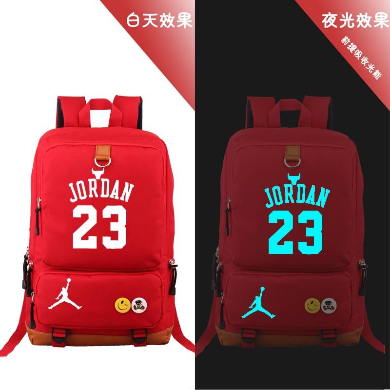 Detail Feedback Questions about HOT SALE Michael Jordan backpack NBA 23  basketball gods fans student bookbag large USB charging laptopbag luminous  printing ... 6f6f2272eab13
