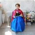 Retail + frete grátis! 2015 Meninas vestido de Princesa dos desenhos animados cosplay vestido da menina, crianças vestido de princesa fantasia traje vestido