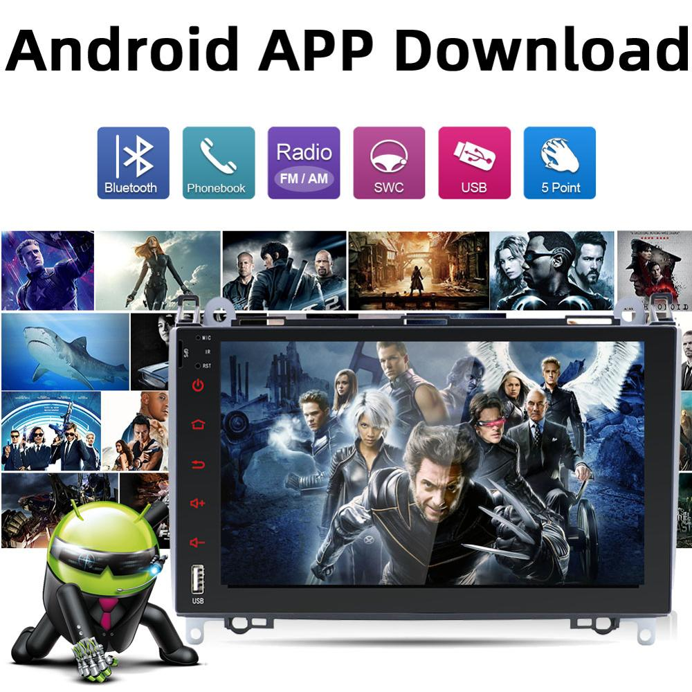 Android 8.0 8 inch in Dash Double Din Car Stereo 1080p Multimedia Video Radio Navigator with WiFi GPS Navigation SWC Fit for Benz B200//Benz Viano//Sprinter//Freightliner//W906 with Canbus /& Camera CHINA