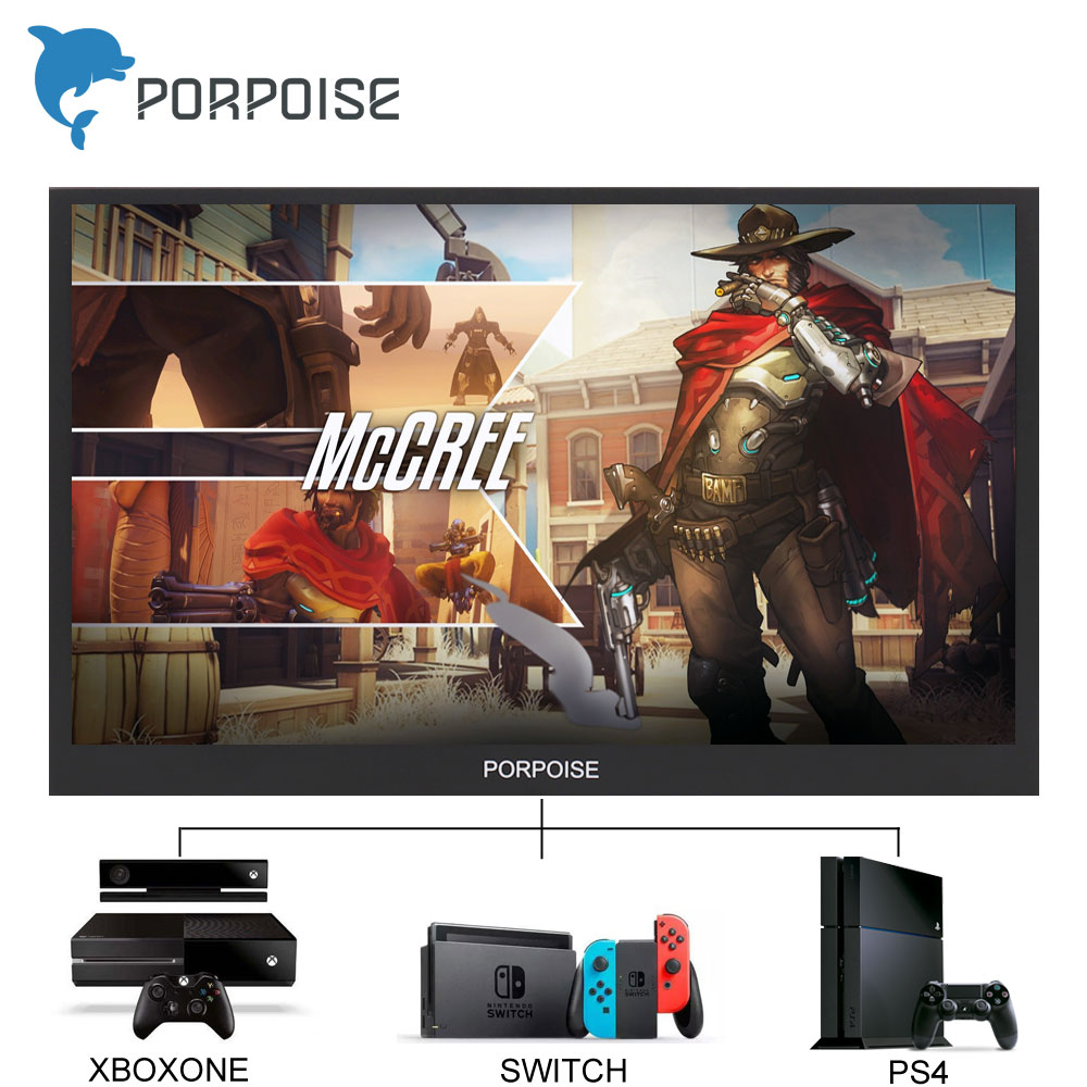 17 3 In Portable HDR Monitor 1920*1080P IPS Screen Display Multi Screen  Display for PS3 PS4 XBOX One Game Console HDMI Computer
