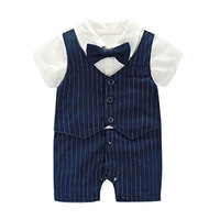 Formal Rompers Newborn Baby Boy Clothes For Party And Wedding Christening Birthday Clothing Infant Boy Summer