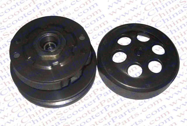 Фото 120MM 16T JOG Clutch Assembly for Yamaha 50CC 1E40QMB Minarelli  Baotian Znen Jinlang LongJia Jonway Kazuma Scooter Buggy Parts. Купить в РФ