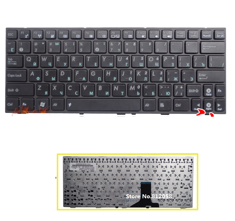 laptop RU Keyboard for ASUS Eee PC 1001HA 1001PX 1001PXD 1005 1005HD 1005HA 1005PX 1008 1008HA Russian
