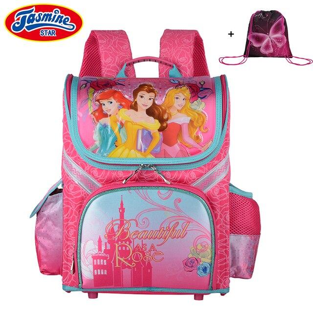 cf2585496a JASMINESTAR Children s Backpack 2018 New Brand Princess Girls Cartoon  Satchel Bag Child Orthopedic Backpacks School For Girl
