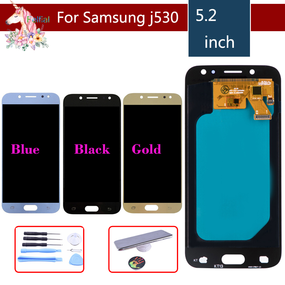 10 pcs/lot LCD pour SAMSUNG Galaxy J5 2017 LCD écran tactile assemblée pour Samsung Galaxy J5 2017 J530F J530FN LCD complet