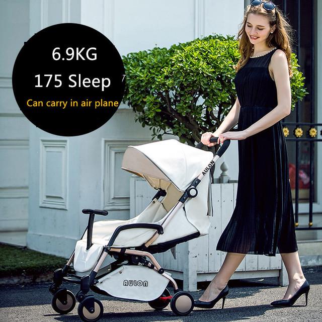 Babypram Aulon 6.9 KG luz cochecito de bebé plegable portátil de bolsillo paraguas coche 175 grados uso recién nacido