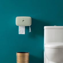 Toilet Paper Holder With Shelf Creative Plastic Black Wc Bathroom Storage Box Wall-Mounted Tissue