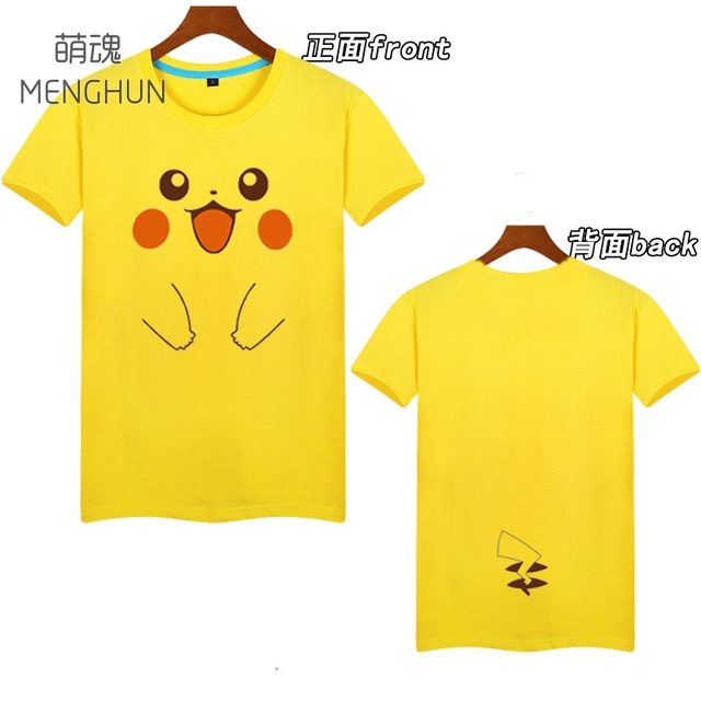 1e05b7309 Pokemon/Pokemon Go men's tee shirt lovely yellow tee shirt Pikachu t shirt  Gengar face black t shirt ac256