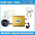Pantalla LCD de Doble banda Repetidor GSM DCS 2G teléfono Celular de REFUERZO GSM 900 1800 Amplificador REPETIDOR con Antena y Antena Panel LDPA