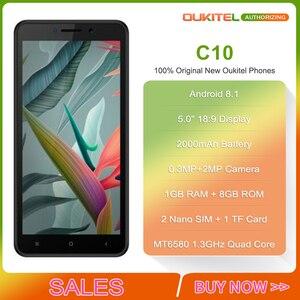Image 2 - OUKITEL C10 5 18:9 Display 3G Smartphone 1GB RAM 8GB ROM MTK6580 Quad Core 1.3GHz Dual SIM 2000mAh Android 8.1 Mobile Phone
