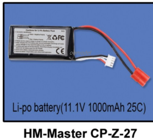 Walkera Master CP parts HM Master CP Z 27 Lipo font b battery b font 11