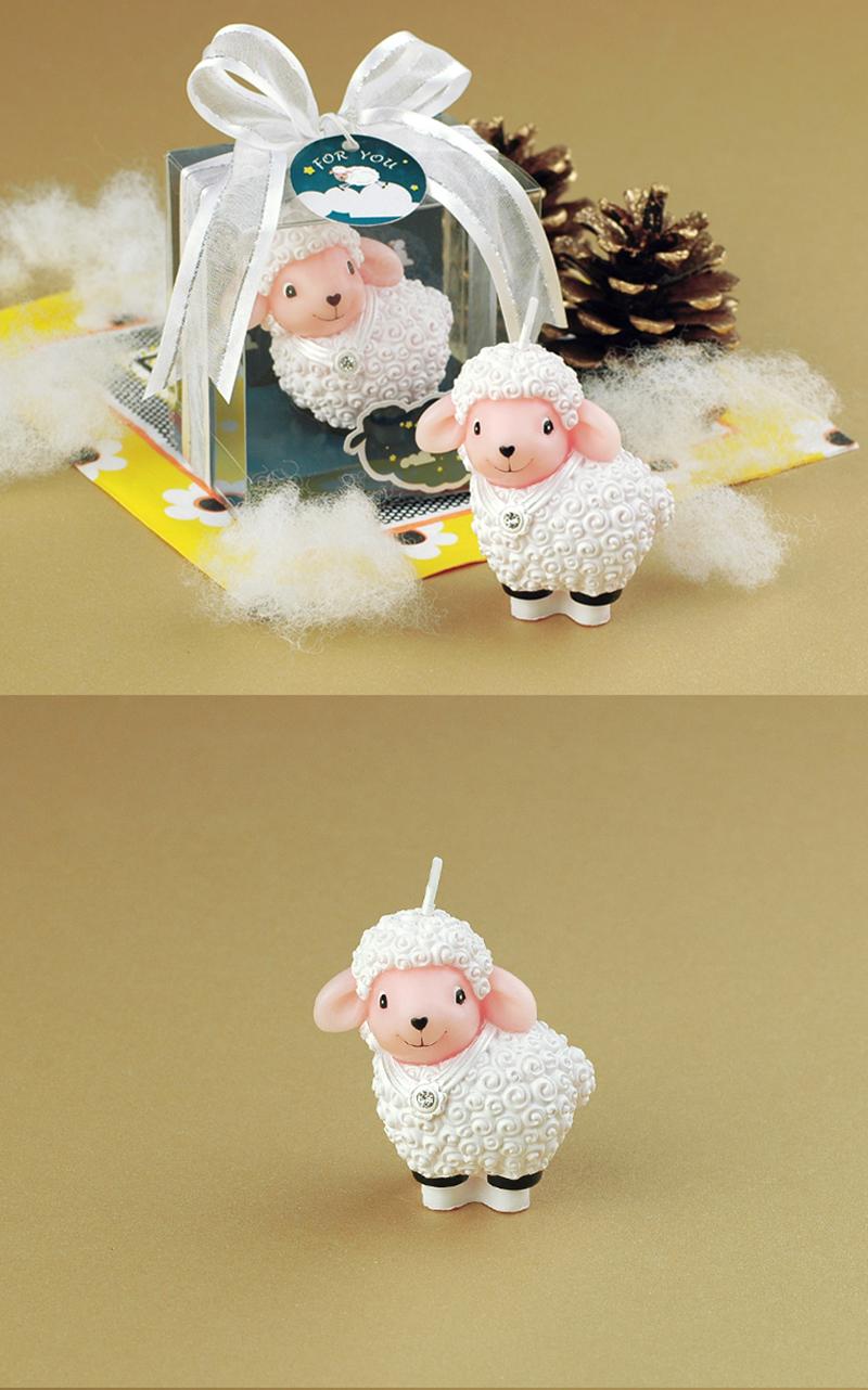 Fantastic Creative Cartoon Animal Candles Child Birthday Cake Decor Sheep Funny Birthday Cards Online Benoljebrpdamsfinfo