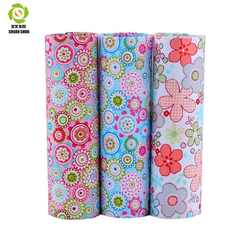 Print Floral Cotton Tessuti Patchwork Clothes Fat Quarter Bundles Fabric For Baby Clothe ...