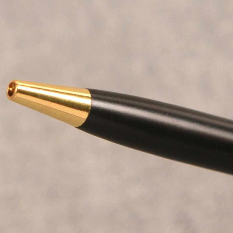 Limit gösterir Popüler Siyah Altın Ince Çubuk Dönen Metal Tükenmez Kalem Biro Topu Mürekkep Yazma Okul ofis malzemeleri imza kalem