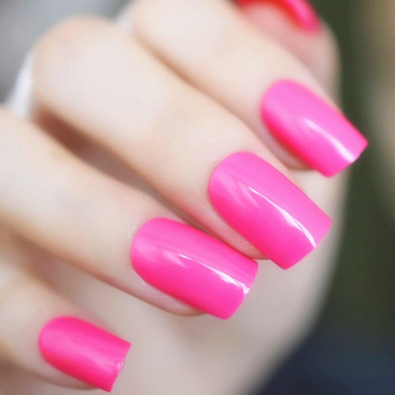 24 sztuk plac akrylowe krótkie sztuczne paznokcie dla dzieci przezroczyste czerwone naciśnij na paznokcie czarny różowy francuski manicure fałszywe paznokcie fałszywe pełne paznokcie