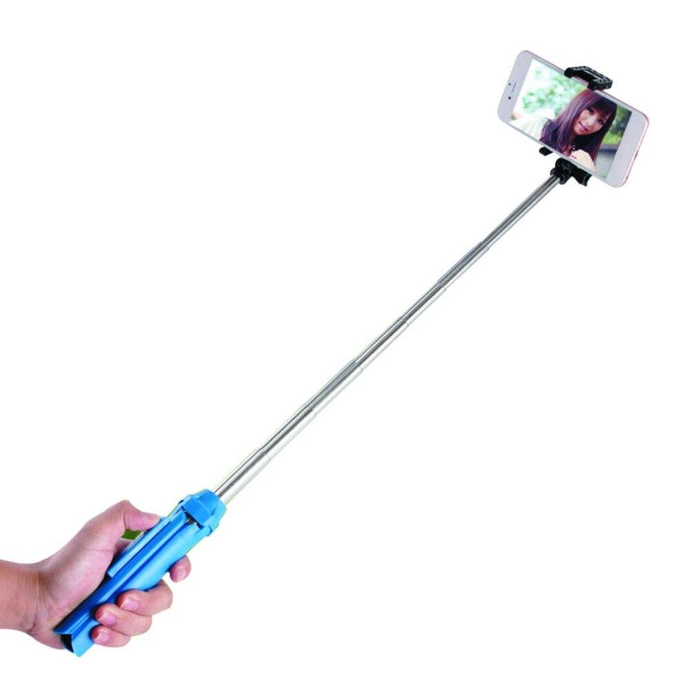 Handheld Mini Tripod 3 in 1 Self-portrait Monopod Phone Selfie Stick w Bluetooth Remote Shutter for Smart Phone Camera Universal