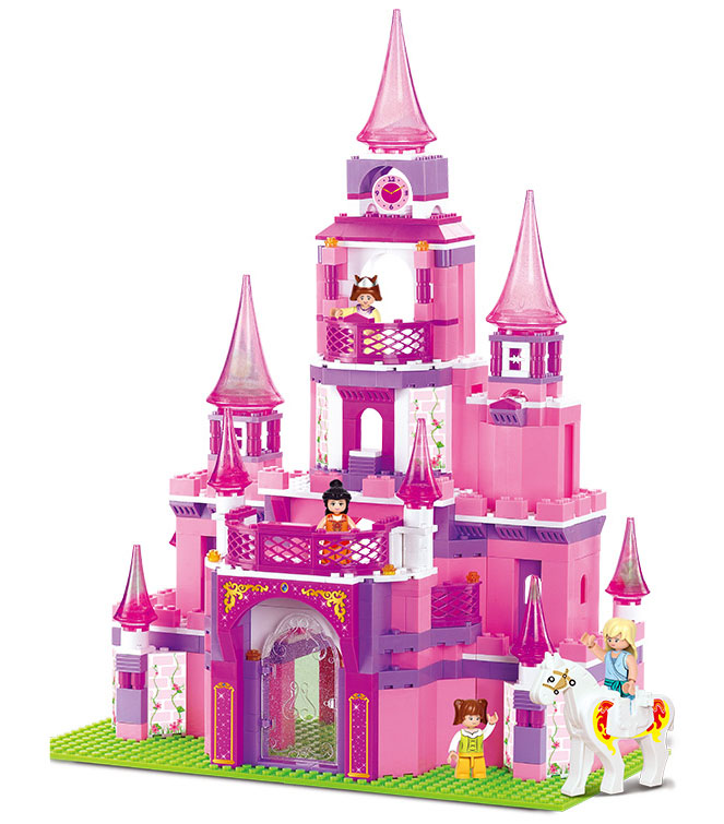 Princess Castle Girl Dream House Building Block Sets 472 pcs/lot Blocks Compatible Educational Toys girls Hobbies Toys for Kids