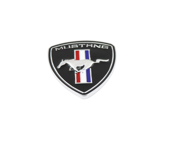 Auto car Tri-Bar Running Horse shield for Mustang Fender Emblem Badge Sticker 2 pcs auto chrome 45th anniversary for 2012 camaro fender emblem badge sticker