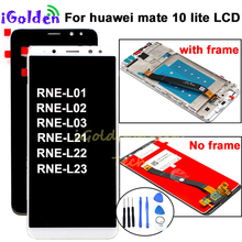 Pantalla Voor Huawei Mate 10 Lite Lcd Touch Screen Digitizer Screen Glass Panel Assembly met frame voor Mate 10 lite lcd
