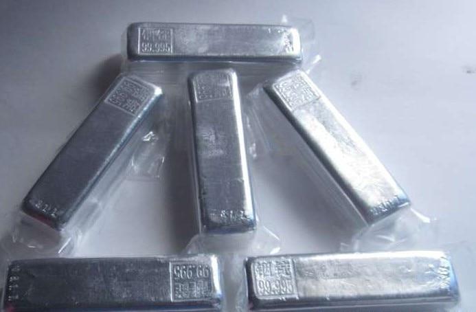 Experimental Analysis Of Pure In > 99.999 For High Purity Indium Block 4N5 Indium Ingot Pure Indium Ingot Pure Indium Block
