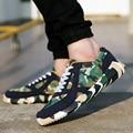 2016 Nueva Marca de Los Hombres Ligeros Junta De Malla de Camuflaje Transpirable ayuda Baja zapatos de Los Hombres Ocasionales con cordones Al Aire Libre goma de Los zapatos Ocasionales