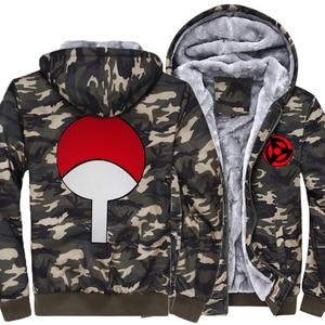 Image 3 - Sudaderas con capucha de Naruto Uchiha Syaringan para hombre, chaquetas con capucha con estampado de dibujos animados de ninja, abrigos gruesos, M 5XL, novedad de 2019