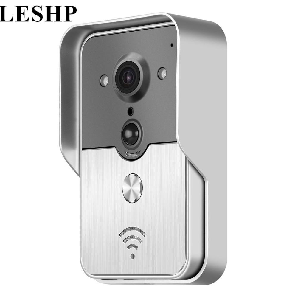 LESHP Night Visual Intercom Door Bell Wireless Doorbell Camera Waterproof Smart Door Phone Ring Home Security 2-way Audio high quality wifi door phone 2 4g digital battery operated 2 way audio wireless doorbell waterproof duplex intercom system d302b