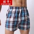 Cortocircuitos de los hombres 100% algodón temporada de Verano pantalones cortos a cuadros pantalones cortos masculinos envío libre proporcionado XXXL