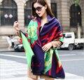 Зимы женщин кашемира шарф 2015 новых европейских мода марка большой толстый шерстяной шарф красная роза теплое пашмины очень большой обертывания