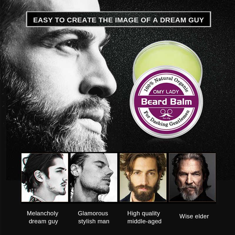 OMYLADY Barba Balsamo Per Le Labbra per Gli Uomini Natural Organic Barba Cura Cera Barba Condizionatore Styling Idratante Crescere Stimolatore di Capelli a Forma di