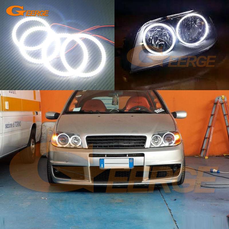 For FIAT PUNTO Mk2 2B 2003 2004 2005 2006 headlight Excellent Ultra bright illumination smd led Angel Eyes Halo Ring kit ixo fiat punto s1600 51 fiat 2003