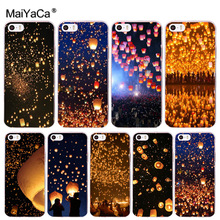 купить MaiYaCa Sky Lantern Special Offer Luxury Vertical phone case for iPhone 8 7 6 6S Plus X 10 5 5S SE 5C 4 4S Coque Shell по цене 38.43 рублей