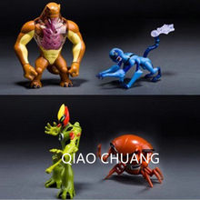4Pcs Anime Ben10 Alien Force Swampfire Wildmutt Humongousaur Spider Monkey Brain Storm PVC Action Figure Model Toy G509(China)