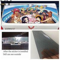 재미 있은 창조적 인 luffy anime 차 스티커 차 뒷 창을위한 귀여운 전사 술 removeable (147 cm * 70 cm)
