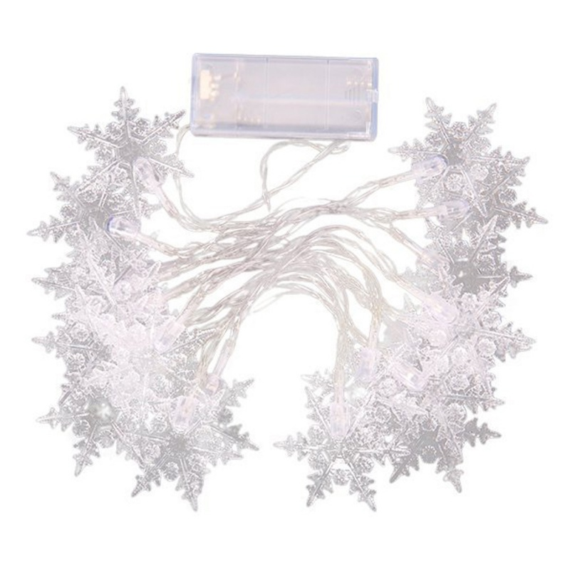20 LED Holiday Snowflake Home Decoration Christmas Atmosphere Lights Waterproof Fairy LED Light String