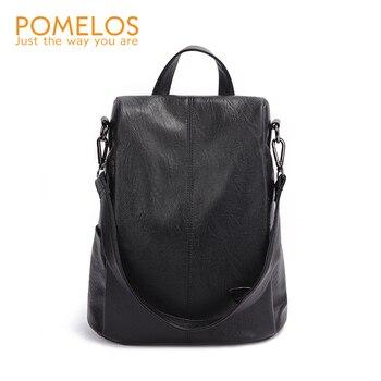 POMELOS Backpack Female Designer New Women PU Leather Backpack Anti Theft High Quality Soft Back Pack Backpacks School Bags цена 2017