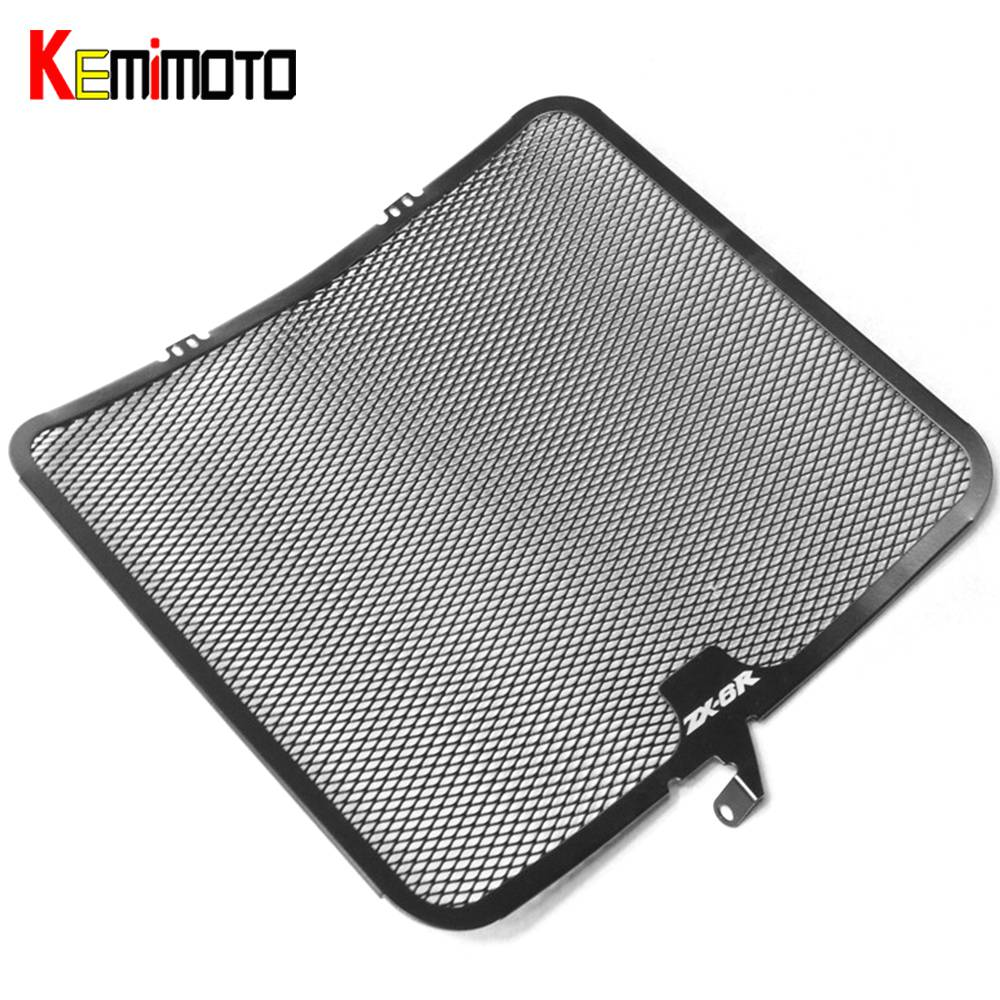 Aluminum Radiator Guard Cover Grille for Kawasaki ZX-6R 2009 2010 2011 2012 2013 2014 ZX6R Oil Cooler Protector motorcycle radiator grille protective cover grill guard protector for 2008 2009 2010 2011 2012 2016 suzuki hayabusa gsxr1300