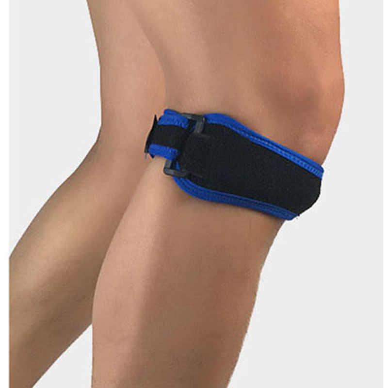 1 Pcs Dukungan Lutut Patela Sabuk Elastis Perban Olahraga Tali Lutut Bantalan Pelindung Band Sepak Bola Menjalankan Kebugaran Lutut Brace